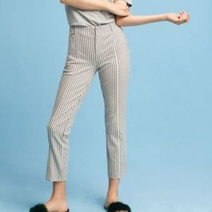 ANTHROPOLOGIE the essential slim trousers plaid P2